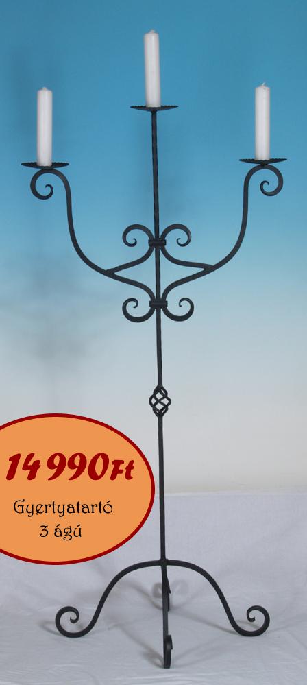 3 ágú Gyertyatartó: 14990 Ft